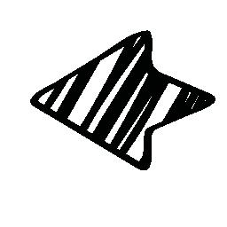 無料アイコンのスケッチの左矢印
