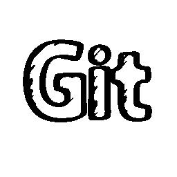Git スケッチ社会ロゴ概要無料アイコン
