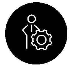 ユーザー設定アウトライン インターフェイス無料アイコンのための seo のシンボル