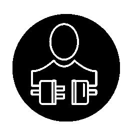 概要円無料アイコン内のシンボルの人と接続