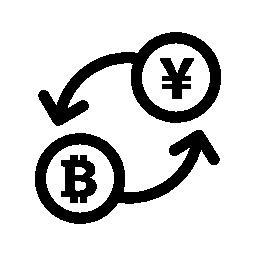 Bitcoin 為替レート無料アイコン