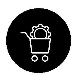 ショッピング バスケット構成インターフェイス円無料アイコンのアウトライン記号