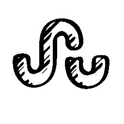 Stumbleupon スケッチ社会ロゴ概要インタ フェース シンボル無料アイコン