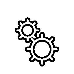 インタ フェースの設定歯車アウトライン シンボル無料アイコン