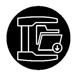 サークル無料アイコン内部メジャー フォルダー インターフェイス アウトライン記号
