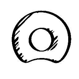 Netog スケッチ社会ロゴのアウトライン シンボル無料アイコン