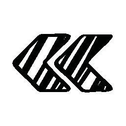 スケッチの左矢印カップル シンボル無料アイコン