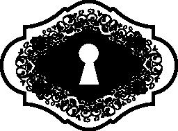 鍵穴バリアント図形無料アイコン