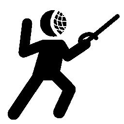 太極拳人シルエットの戦い剣無料アイコン