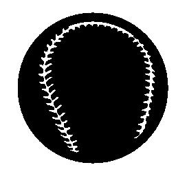 黒い野球ボール無料アイコン