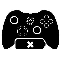 いいえ電池シンボル無料アイコンとゲーム コントロール