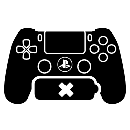 無料アイコンなしバッテリー Ps4 ゲーム コントロール