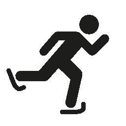 氷スケートのシルエットの無料アイコン