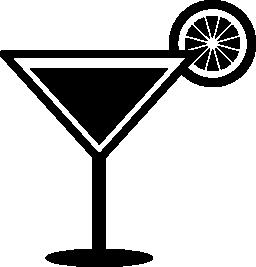 レモン スライス無料アイコンとカクテルを飲むガラス