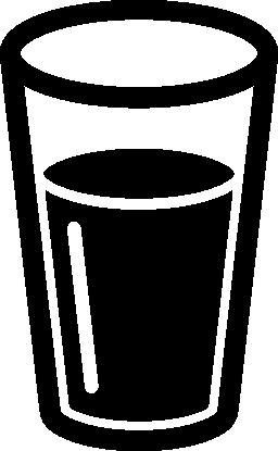 暗い飲み物無料アイコンとガラス