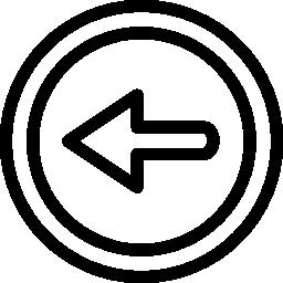 前左矢印円形シンボル概要無料アイコン