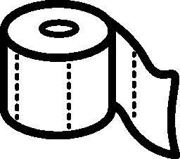 トイレット ペーパー ロール概要無料アイコン