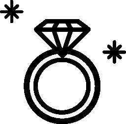 ダイヤモンド リング宝石概要トップ ビュー無料アイコンから