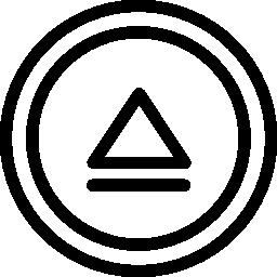 サークル概要無料アイコンの矢印と円形ボタンをマルチ メディアを取り出す