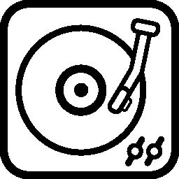 長いレコード プレーヤー ビンテージ ツール概要無料アイコン