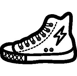 ファッション ツール無料のアイコンをウォーキング スニーカー靴概要