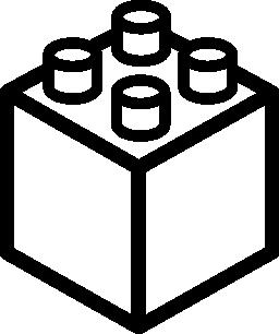 レゴ キューブまたは正方形の無料のアイコン