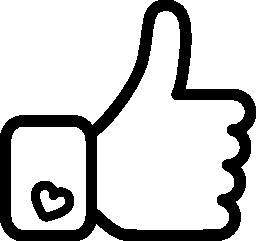 手シンボル概要無料アイコンのような Facebook