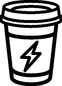 カバー無料アイコンとコーヒーを飲むガラス概要