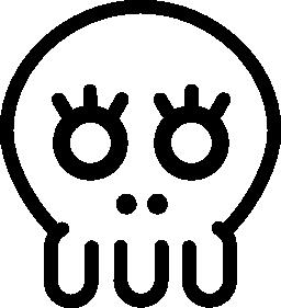 頭蓋骨は、バリアント無料アイコン