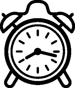 目覚まし時計無料アイコン