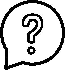 質問円形バルーン概要無料アイコン