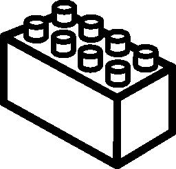 レゴ 3 d の四角形の輪郭の無料アイコン