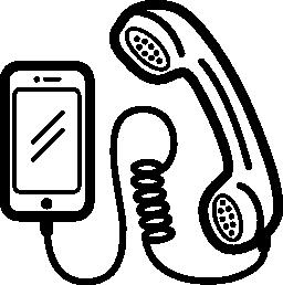 携帯電話耳介と設定し、コードの無料のアイコン