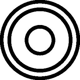 レコード サークル ボタン無料アイコン