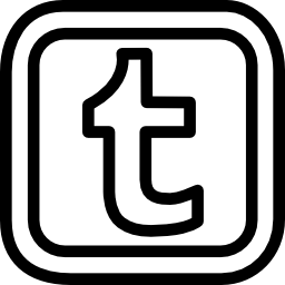 角丸の正方形の Tumblr 手紙ロゴ概要無料アイコン