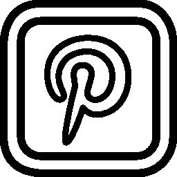 角丸の正方形で Pinterest 手紙ロゴ概要無料アイコン