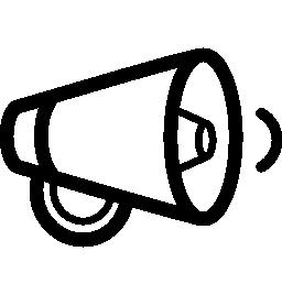 減少ボリューム フェース スピーカー アウトライン シンボル無料アイコン