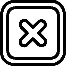 無料アイコンの角の丸い四角形のボタンを閉じる