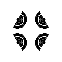 菱形形状無料アイコンの 4 つのフラメンコのファンのグループ