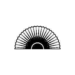 半円形状無料アイコンで開いたフラメンコ ファン