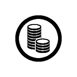 サークル無料アイコンでコイン スタック