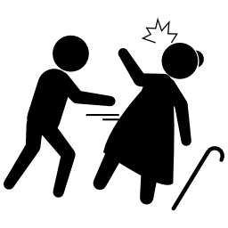 歳の女性の無料のアイコンを盗む犯罪者