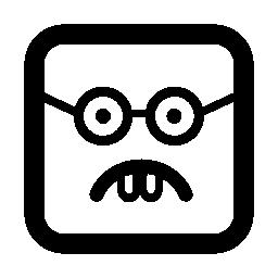 オタク絵文字四角い顔無料アイコン