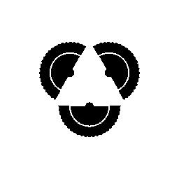 フラメンコのファンの三角形の無料アイコン