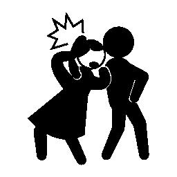 女性の無料のアイコンの頭の後ろから蹴る刑事