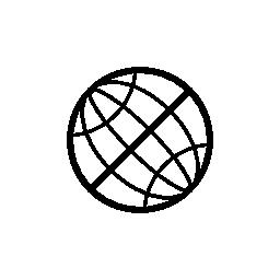 地球のグリッドの無料アイコン