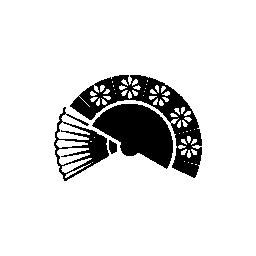 フラメンコのファン無料アイコン