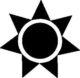 太陽黒三角形無料アイコンの円の図形