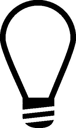 ランプ電球概要無料アイコン