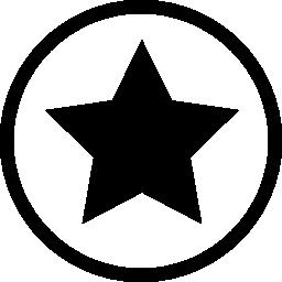 サークル概要お気に入りインタ フェース シンボル無料アイコンの星の黒い図形